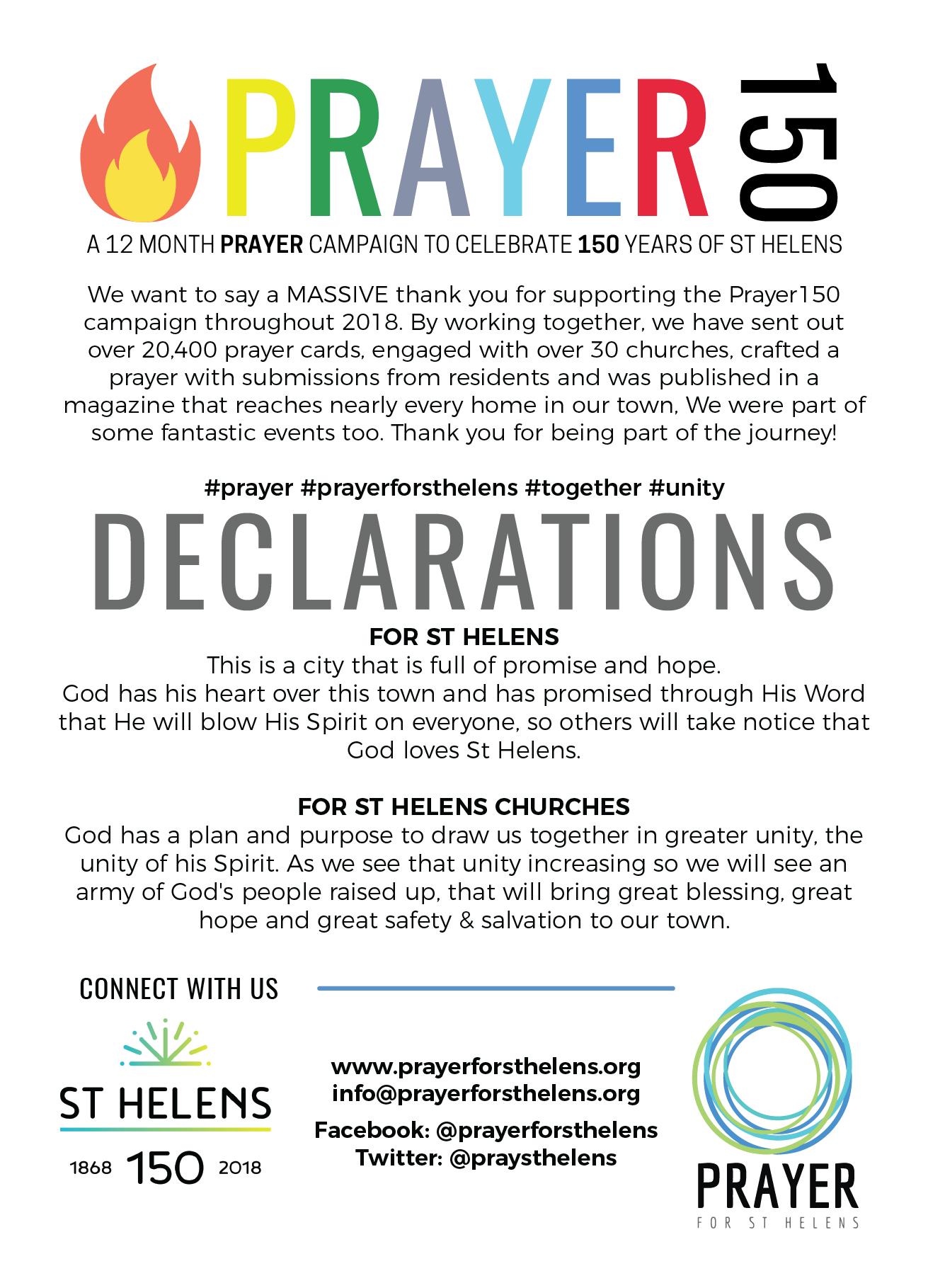 January 2019! – Prayer for St Helens